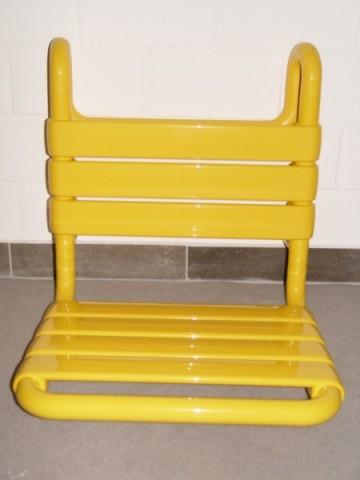 hewi einh ngesitz sitz duschsitz dusche gelb ebay. Black Bedroom Furniture Sets. Home Design Ideas