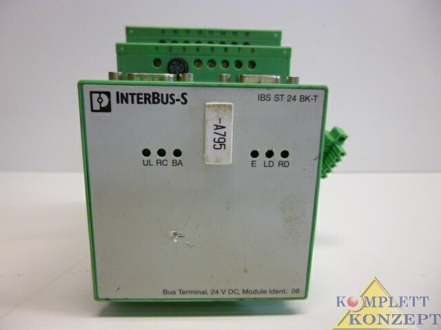 Phoenix-Contact-Interbus-S-IBS-ST-24-BK-T-Bus-Terminal-Busklemme