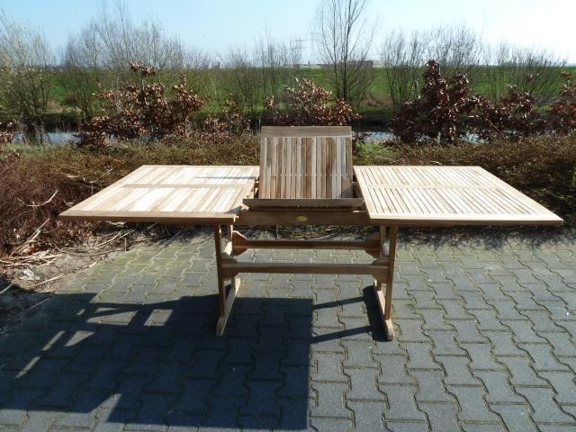 echter teakholz gartentisch ausziehbar tisch gartenm bel 72x150x95cm ebay. Black Bedroom Furniture Sets. Home Design Ideas